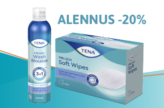 TENA Wash Mousse & Soft Wipes -20%